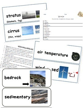 Science Word Wall Words & Activities BUNDLE: Utah 4th grade Year-Long