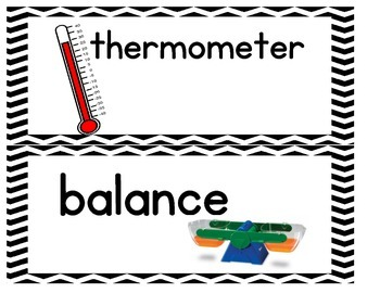 Science Word Wall Words - Chevron