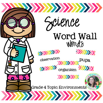 Science Word Wall Words (Grade 4) Theme: Enviornments