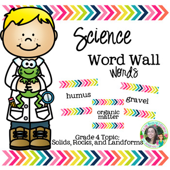 Science Word Wall Words (Grade 4) Theme: Solids, Landforms, and Rocks