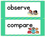 Science Word Wall Words - Striped