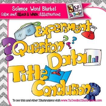 Science Words Clip Art