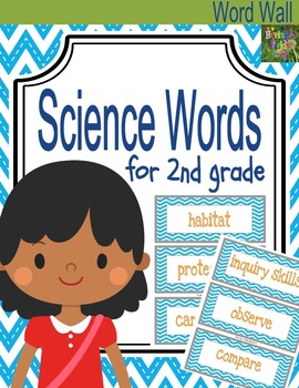Second Grade Science Words for Word Walls