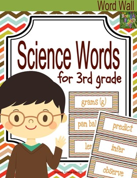 Third Grade Science Words for Word Walls