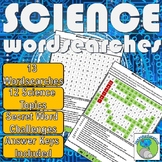 Science Wordsearches - 13 wordsearches, 12 Topics, Answer