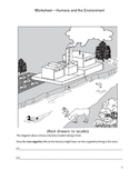 Elementary Science Worksheet - Human Impact on Environment