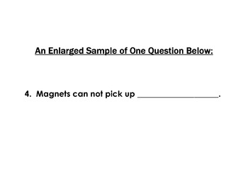 Science Worksheet + Reading Strategy MAGNETS -10 Reading Comprehension Questions