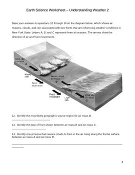 Middle School Earth Science Worksheet - Understanding Weather Worksheet