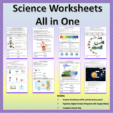 Science Worksheets All in One   Printable and Digital Dist