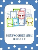 Science Worksheets Bundle for Grade 1 and 2 /Distance Learning