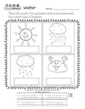 Science Worksheets for Kindergarten (50 Worksheets)