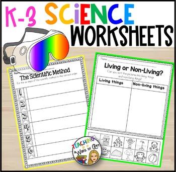 Science Worksheets K-3