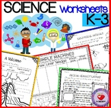 Science Worksheets K-3 DISTANCE LEARNING
