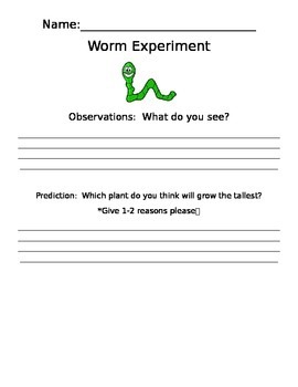 Science Worm Experiment