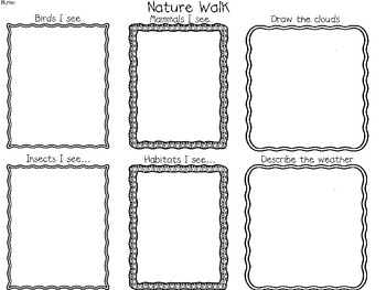 Science Wrap-Up: Nature Walk Recording Sheet