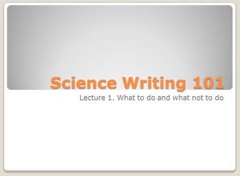 Science Writing 101
