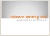 Science Writing 101
