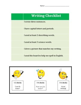 Science Writing Checklist