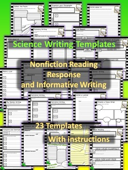 Science Writing Templates: Nonfiction Reading Response and Informative Writing