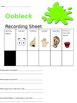 Science & Writing with Bartholomew and the Oobleck!