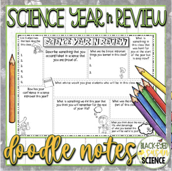 Science Year in Review Doodle Notes...End of Year Reflection