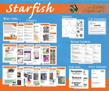Science and Art: 2 Starfish Art Lessons Incorporating Various Arts Materials