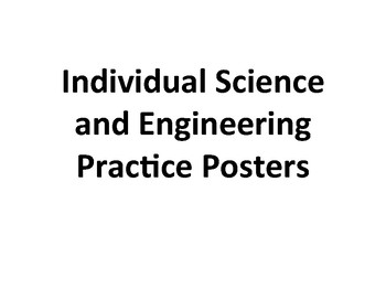 NGSS Science and Engineering Practice Individual Posters