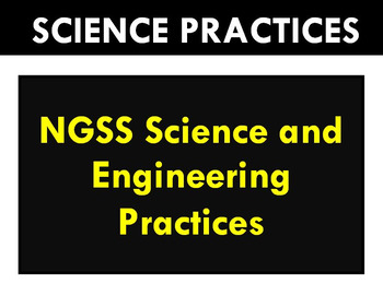 Science and Engineering Practices (NGSS) POSTERS