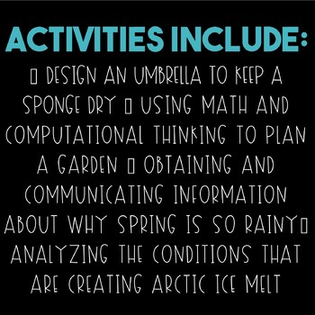 Science and Engineering Practices: Spring Activities