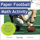 Paper Football Math Activity: Ratio & Proportions with STEM Career Connection