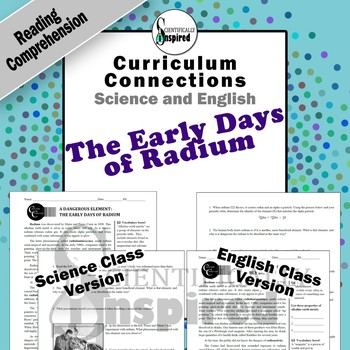 Science and English:  The Early Days of Radium Reading Comprehension