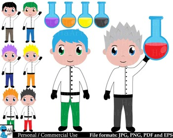 Science and Experiment -  Clip Art Digital Files Personal Commercial Use cod222