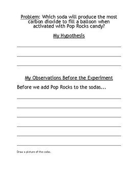 Science and Gas - Pop Rocks Carbon Dioxide Experiment Packet