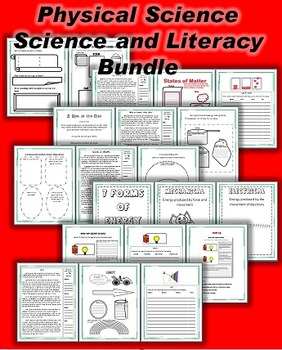 Science and Literacy: Physical Science Bundle (TEKS)
