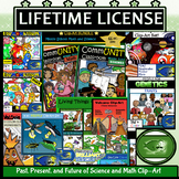 Science and Math Growing BUNDLE: Lifetime License Clip-Art
