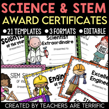 Science and STEM Award Certificates