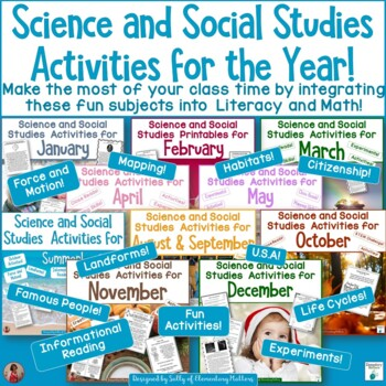 Science and Social Studies Activities for the Whole Year