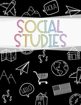 Science and Social Studies Binder Covers