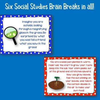Science and Social Studies Brain Breaks Freebie