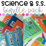 Science and Social Studies File Folders BUNDLE Pack