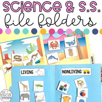 Science and Social Studies File Folders BUNDLE Pack