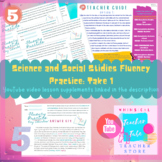 Science and Social Studies Fluency Passages: Take 1