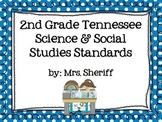 Science and Social Studies I Can Statements for 2nd Grade - Tennessee {EDITABLE}