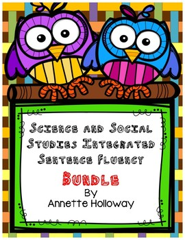 Science and Social Studies Integrated Sentence Fluency Bundle
