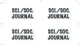 Science and Social Studies Journal Labels K-6