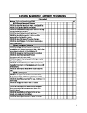 Science and Social Studies Ohio Extended Standards Checklist K -8