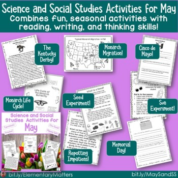 Science and Social Studies Activities for March, April, and May Bundle