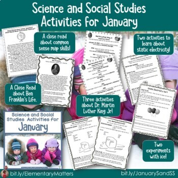 Science and Social Studies Activities Winter Bundle