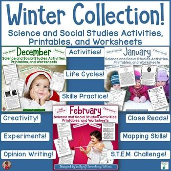 Winter Science and Social Studies Printables