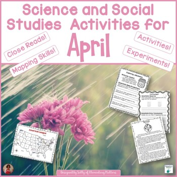 April Activities for Science and Social Studies